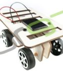 Solar Powered DIY Mini Wooden Car Kit
