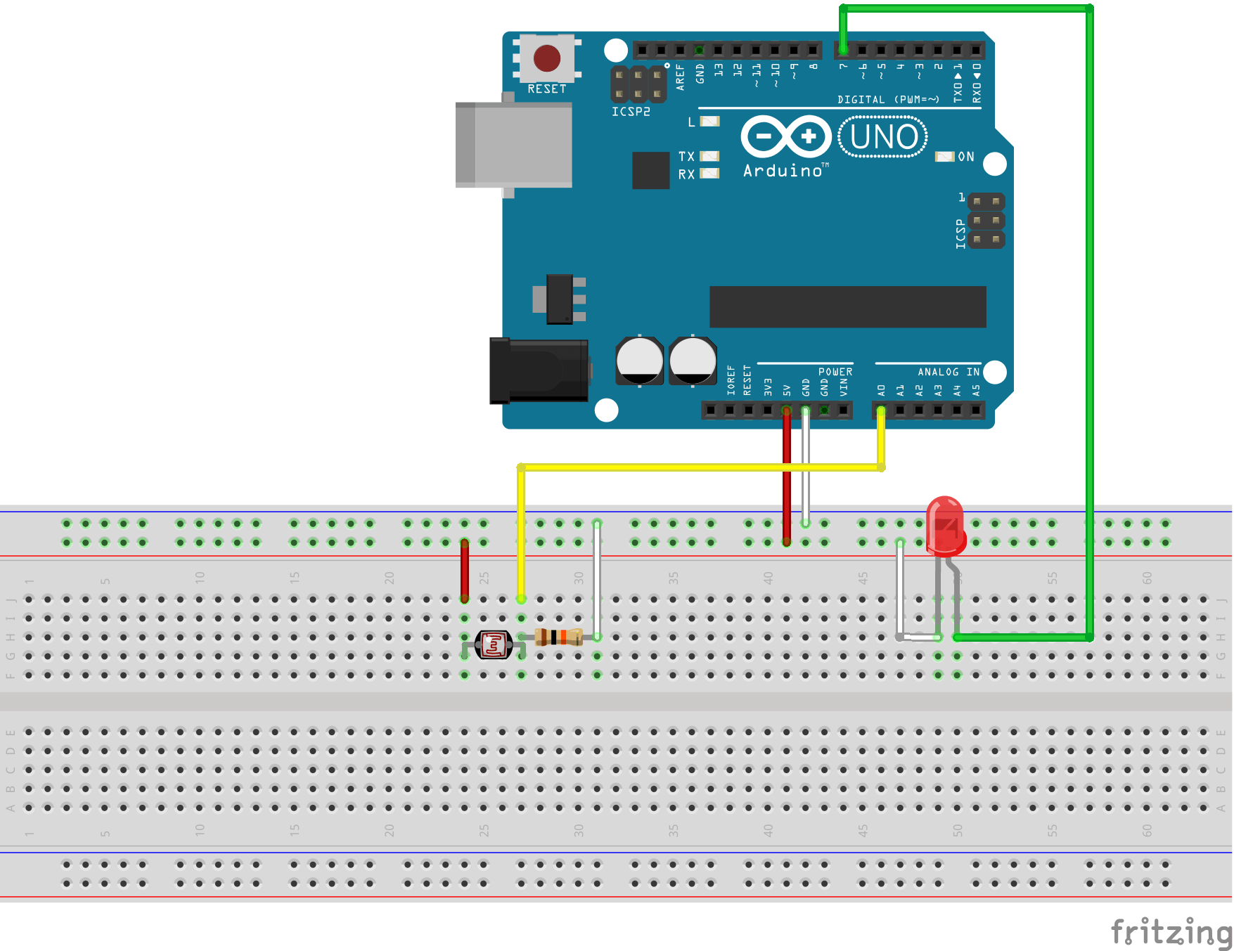 Led Light Control Using Ldr Circuit Diagram Arduino Pin Layout